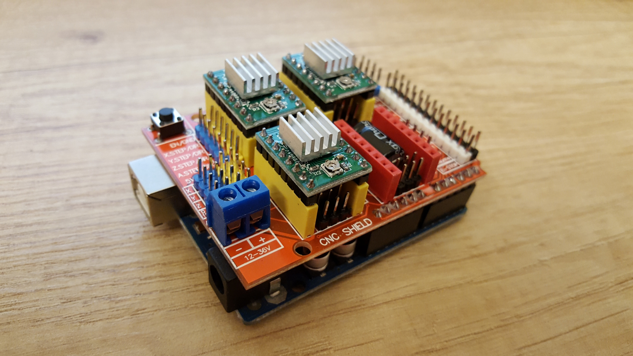 Arduino uno cnc shield a byj pl