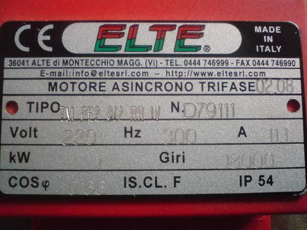 Jaki silnik ma to wrzeciono Elte?